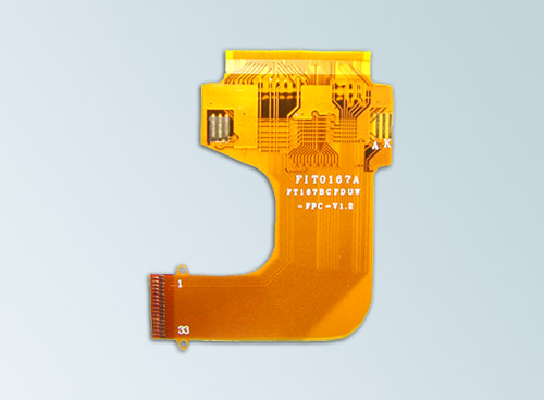 double-sided hollow flexible pcb hot bar soldering